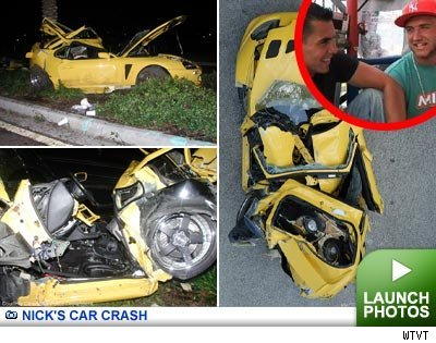 Nick Bollea's Car crash -- click to launch