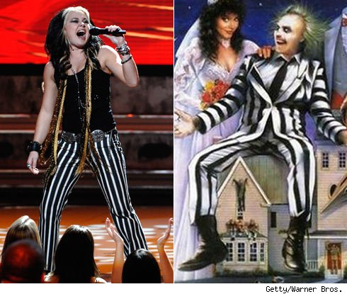 Amanda Overmyer and Beetlejuice