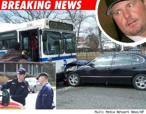 Roger Clemens trainer crashes into a bus