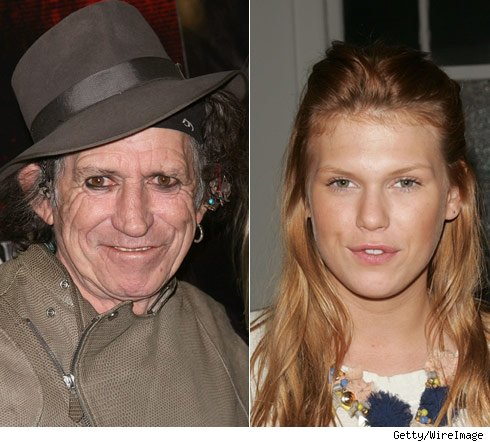 Keith Richards and Alexandra Richards