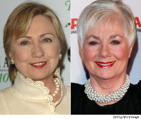 Hillary Clinton and Shirley Jones
