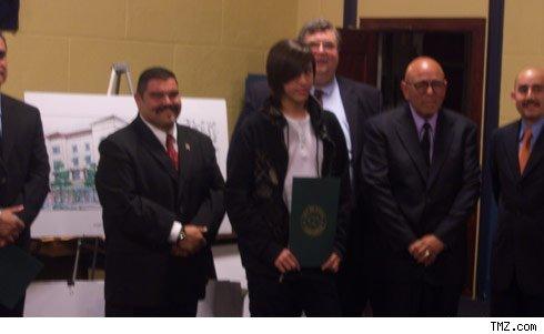 Danny Noriega gets an award