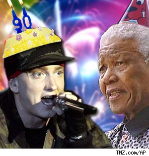 Eminem to party with Nelson Mandela