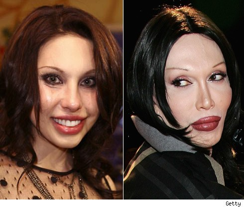 Chloe Lattanzi and Pete Burns
