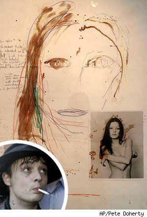 Pete Doherty paints with blood