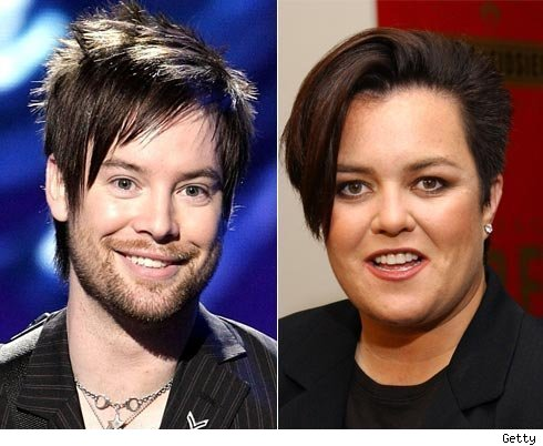 David Cook and Rosie O'Donnell