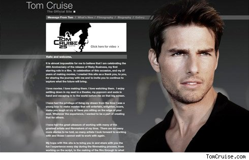Tom Cruisazay website
