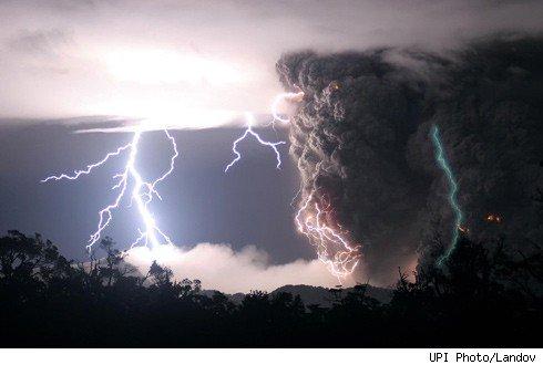 Crazy volcano photo