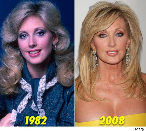 Morgan Fairchild Here's Morgan at 32-years-old (left) back in 1982 -- and an