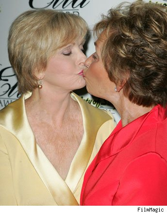 Florence Henderson and Judge Judy