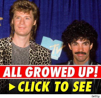 In the '70s and '80s, Daryl Hall and John Oates -- and their hair