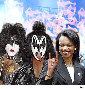 Condi hangs with KISS