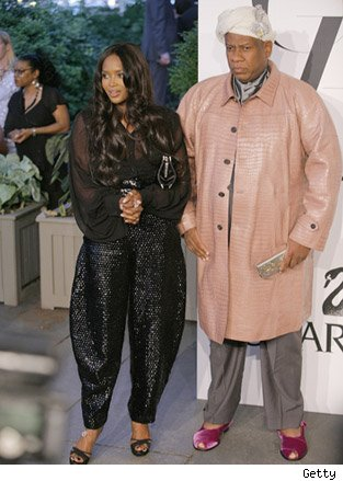 Naomi Campbell and Andre Leon Talley