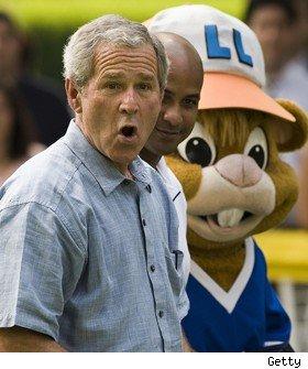 President Bush, Dugout