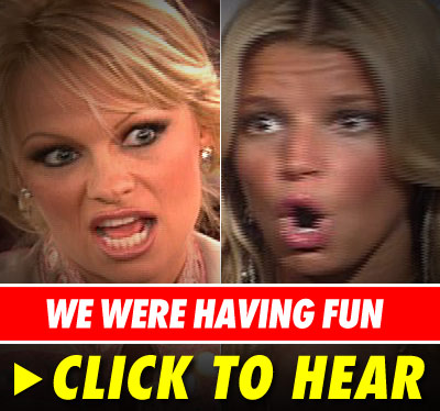 Pamela Anderson and Jessica Simpson: Click to listen