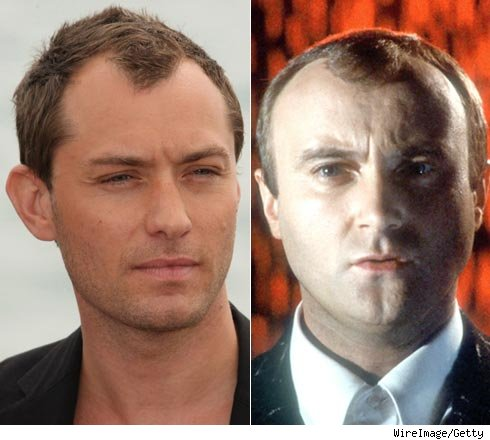 jude law hair. Dior Homme Jude Law (left)