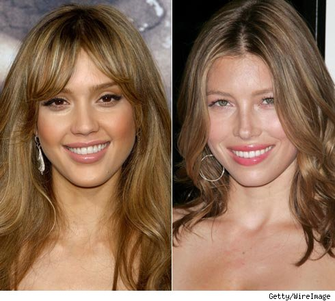 Jessica Alba and Jessia Biel