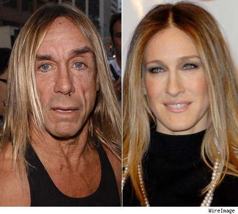 Iggy Pop and Sarah Jessica Parker