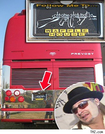 Kid Rock's tour bus