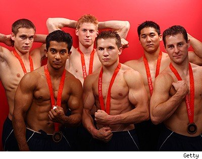 Mens Gymnastics Team Goes Chippendales