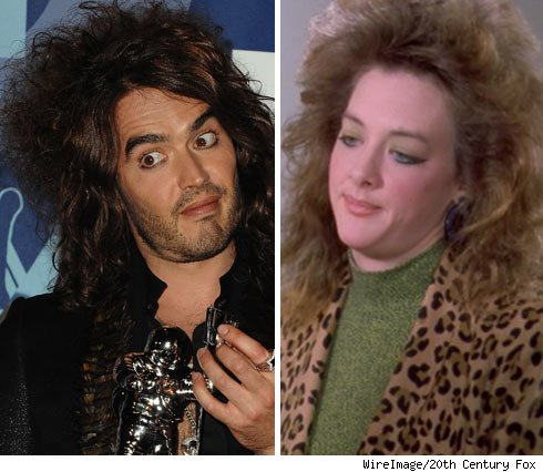Russell Brand and Joan Cusack