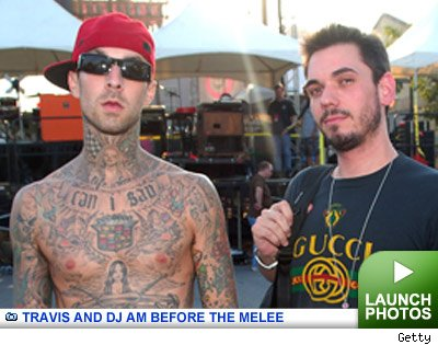 Travis Barker and DJ AM