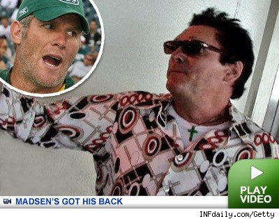 Michael Madsen & Brett Favre: Click to watch