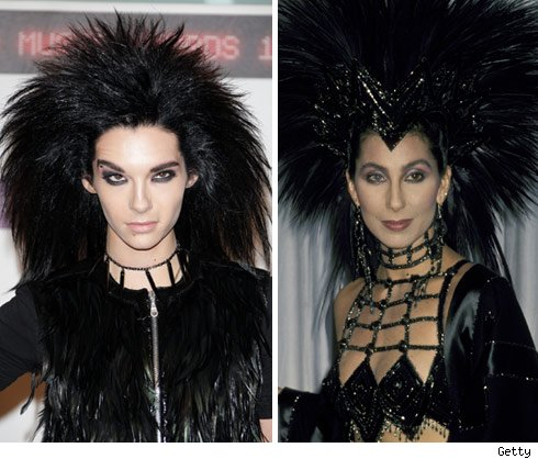 Here's Bill Kaulitz (left), lead singer of German pop band Tokio Hotel,