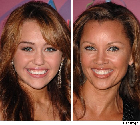 Miley Cyrus and Vanessa Williams