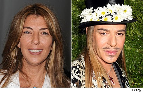 Nina Garcia and John Galliano
