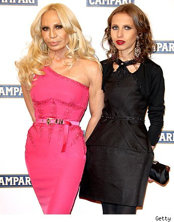 Donatella Versace and Allegra Beck