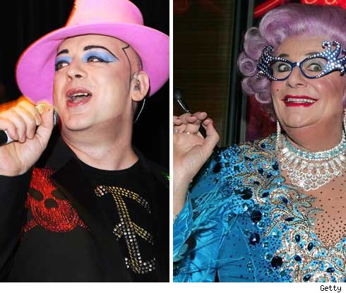 Boy George and Dame Edna