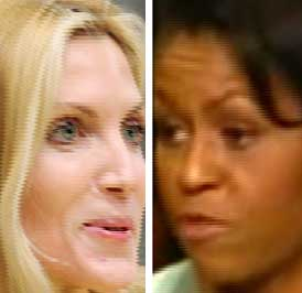 Ann Coulter and Michelle Obama