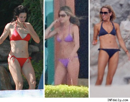 Courteney, Jennifer and Sheryl