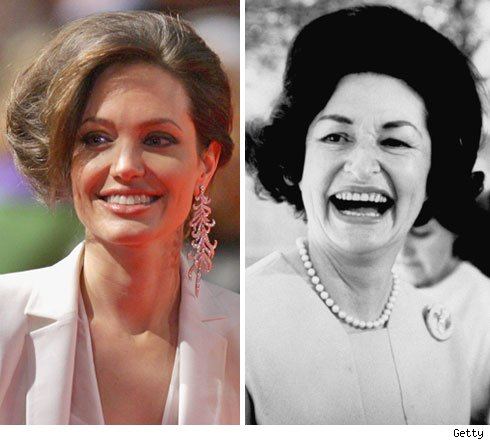 Angelina Jolie and Lady Bird Johnson