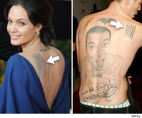 Could he be following in ladylove Angelina's Jolie's tattooed footsteps?