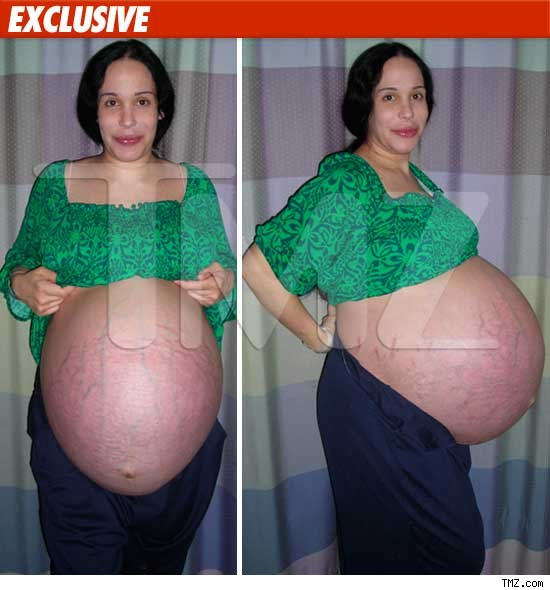 This picture of a ready to explode Nadya Suleman was taken eight days