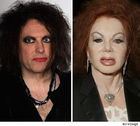 Robert Smith and Jackie Stallone
