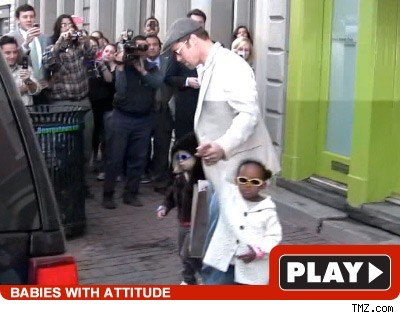 Brad Pitt and Girls: Click to watch!