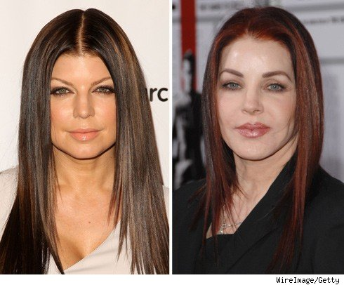 Fergie and Priscilla Presley