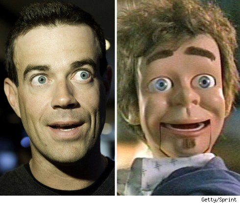 Carson Daly and a dummy