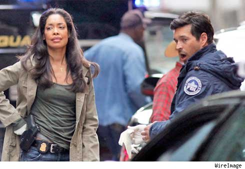 Eddie Cibrian and Gina Torres