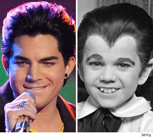 Adam Lambert and Eddie Munster
