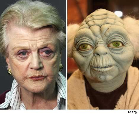 Angela Lansbury and Yoda