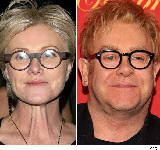 Deborra-Lee Furness and Elton John
