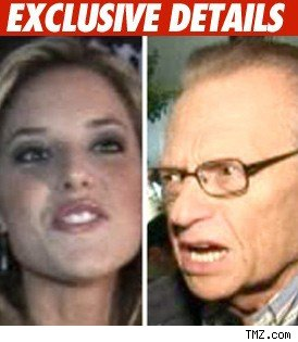 Carrie Prejen and Larry King