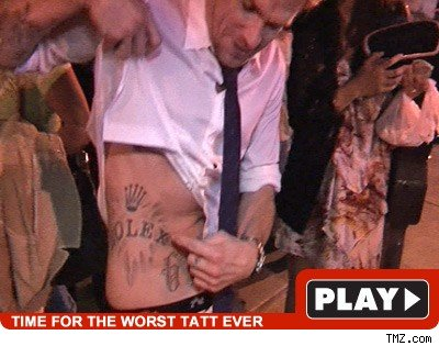 5/15/2009 10:00 AM PDT by TMZ Staff. That's no Folex -- the Rolex tattoo on