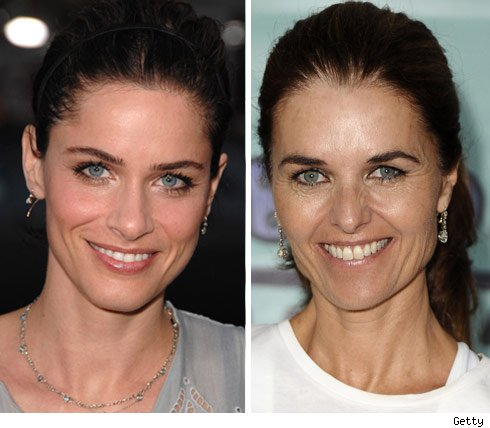 Amanda Peet and Maria Shriver