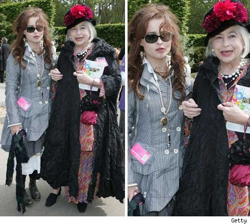Helena Bonham Carter and mom