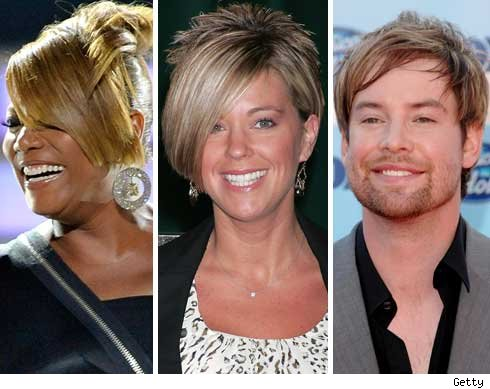 Queen Latifah, Kate Gosselin and David Cook